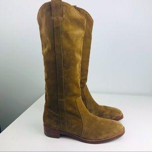 Via Spiga Gillian Tan Leather Western Boots